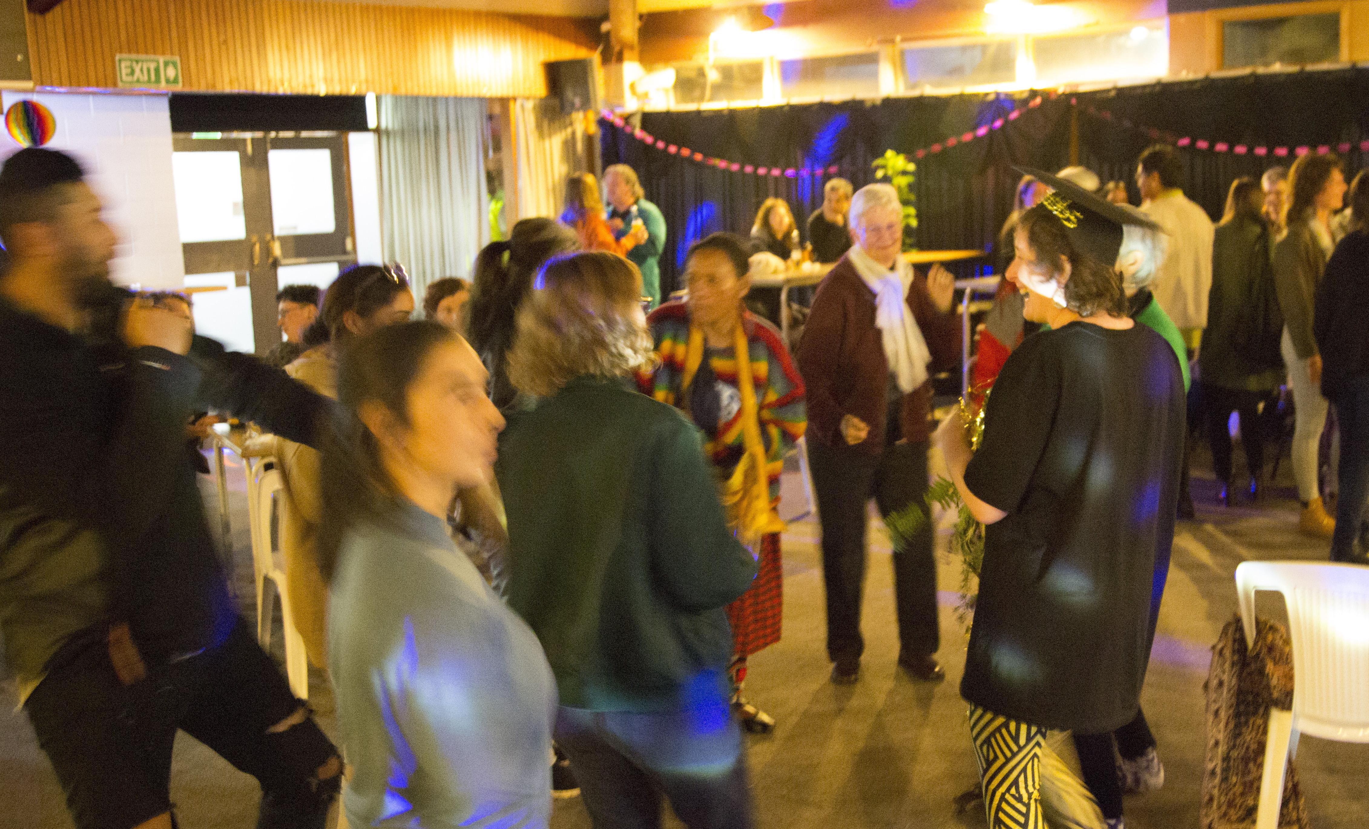 Group gathering, dancing