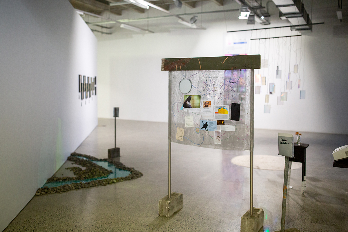 Installation view of Holly Grover's artwork