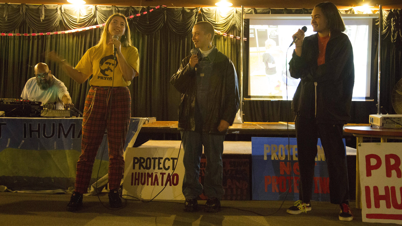 Nga Hine Pukorero performing