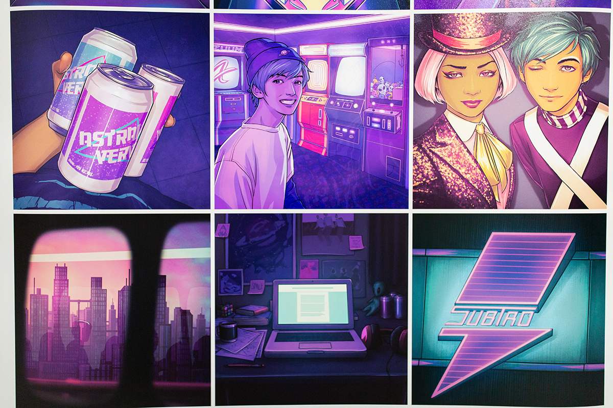 Multiple Instagram posts of fictitious characters