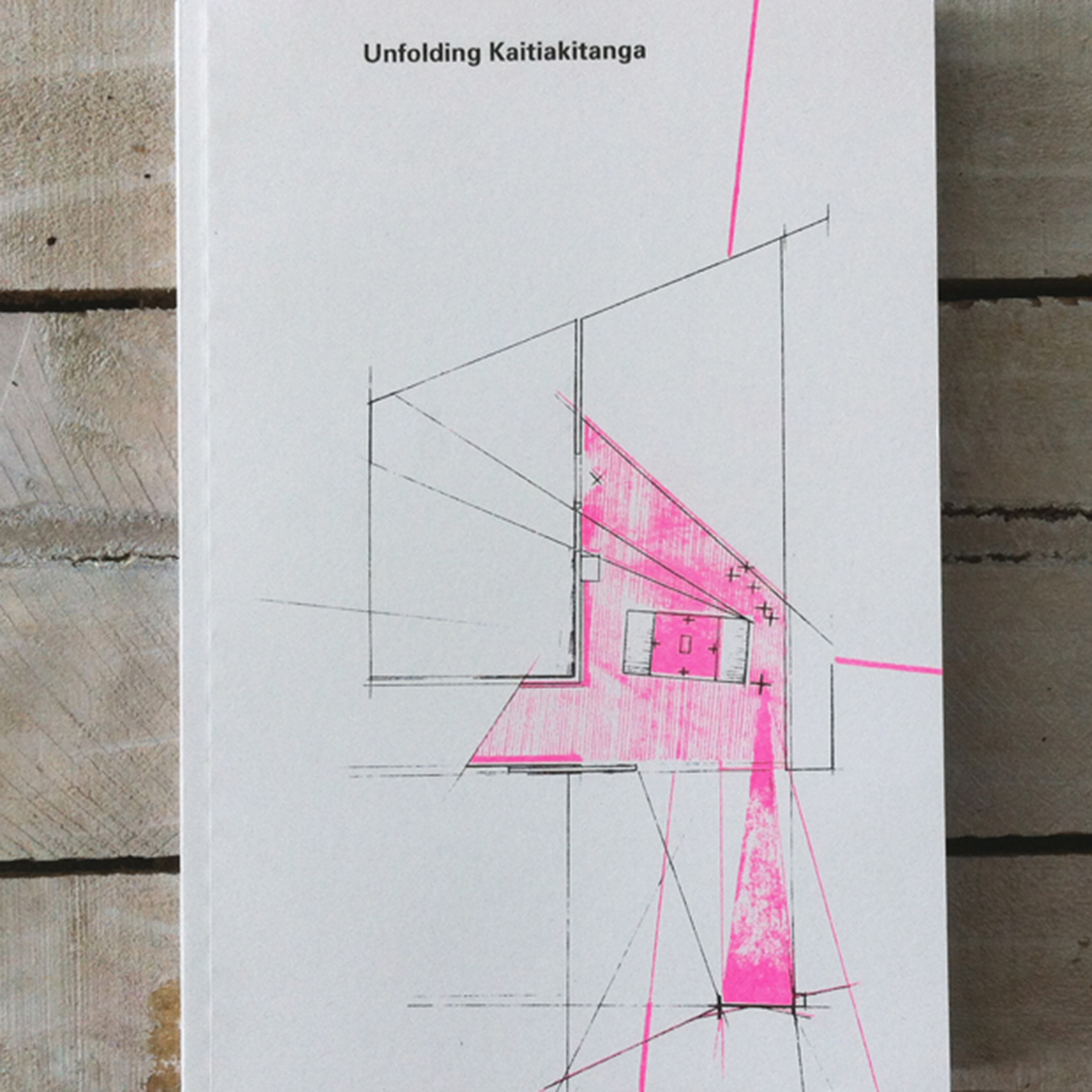 Photograph by Tanya Ruka of Unfolding Kaitiakitanga book cover (2016).